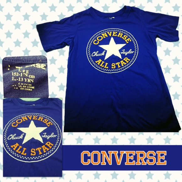 a778d6caae1d Converse Other - CONVERSE Royal Blue and Orange Signature T-Shirt